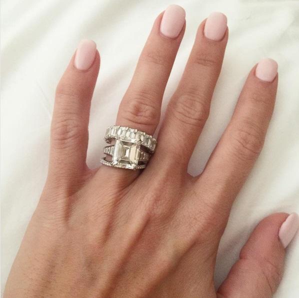 Barbie Blanks Emerald Cut Diamond Ring