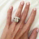 Barbie Blank's Emerald Cut Diamond Ring