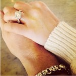 Isabell Hiebl's Cushion Cut Diamond Ring