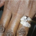 Laureen Mijungu's Round Cut Diamond Ring