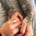 Chiara Ferragni's Round Cut Diamond Ring
