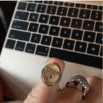 Leandra Medine's Oval Cut Ruby And Diamond Ring