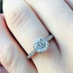 Lucie Jones' Round Cut Diamond Ring