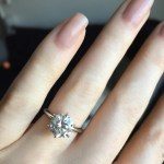 Jillian Murray's 2 Carat Round Cut Diamond Ring
