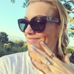 Katie Cassidy's Marquise Shaped Diamond Ring