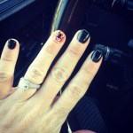 Danielle Harris' Square Shaped Diamond Ring