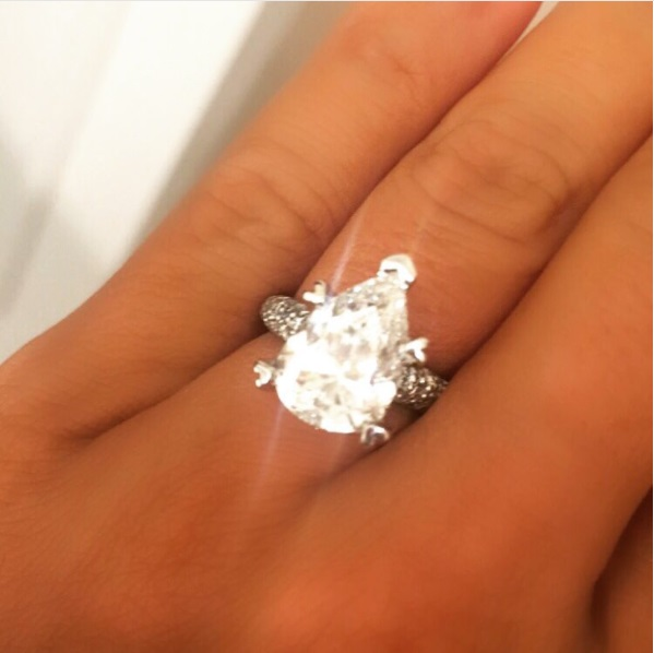 Kasey Trione's Pear Shaped Diamond Ring