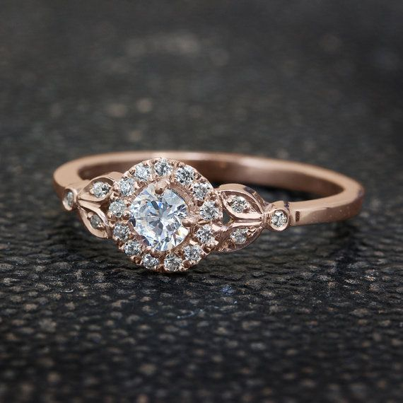 Autumn Theme Engagement Rings