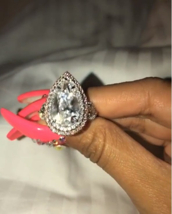 Cardi B Ring: Cardi B's 8-Carat Pear Shaped Diamond Ring
