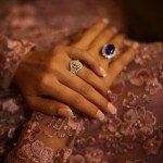 Meghana Raj's Flower Shaped Diamond Ring
