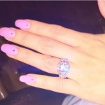 Michelle Beltran's Cushion Cut Diamond Ring