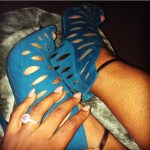 Osas Ighodaro Ajibade's Round Cut Diamond Ring
