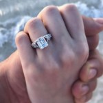 Alexa Ray Joel's Emerald Cut Diamond Ring