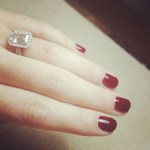 Christy Carlson Romano's Emerald Cut Diamond Ring