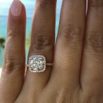 Radina Aneva's Round Cut Diamond Ring