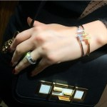 Cyrine Abdelnour's Round Cut Diamond Ring