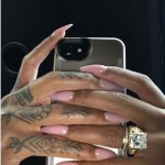 Dreka Gates' Emerald Cut Diamond Ring