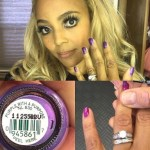Kim Fields' Round Cut Diamond Ring
