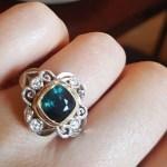 Sile Seoige's Unique Cushion Cut Diamond Ring