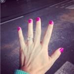 Mindy Ellis' Square Shaped Diamond Ring