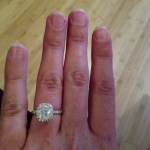 Alex Murrel's Cushion Cut Diamond Ring