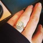 Mina Starsiak's Cushion Cut Diamond Ring
