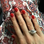 Anastasia Shubskaya's Round Cut Diamond Ring