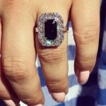 Katie Sturino's Emerald Cut Sapphire Ring