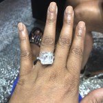 Kesha Ward's Asscher Cut Diamond Ring