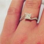 Amanda Ciavarri's Square Shaped Diamond Ring