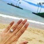 Ginger Conejero's Round Cut Diamond Ring