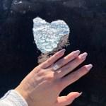 Nicole Hocking's Emerald Cut Diamond Ring