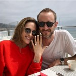 Carly Chaikin's Square Shaped Diamond Ring