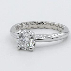 Diamond Solitaire Ladies flat view # Accufine Aurora