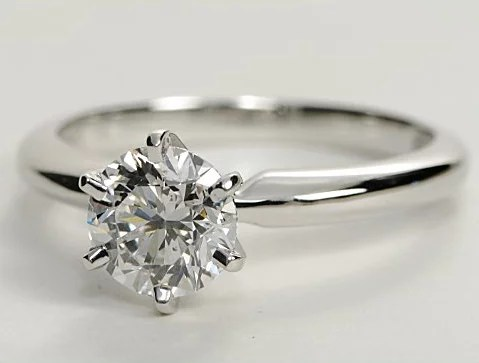 Classic Solitaire Diamond Engagement Ring Engagement