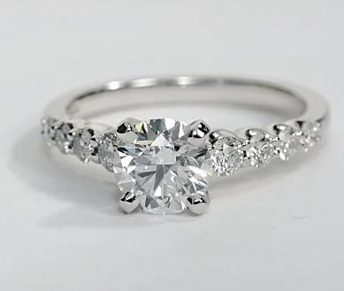 Graduated Side Stone Engagement Ring Engagement Ring Wall