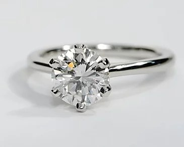 Petite Band Solitaire Engagement Ring Engagement Ring Wall