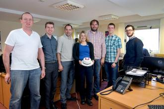 The Engage Web Team with their birthday cake