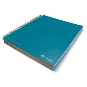 livescribe 3-subject notebook #1 dark blue