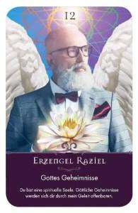 Gratis Kartenlegen Kraft der Engel Orakel Karte 12 Erzengel Raziel