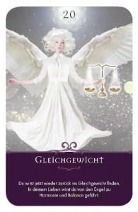 Gratis Kartenlegen Kraft der Engel Orakel Karte 20 Gleichgewicht