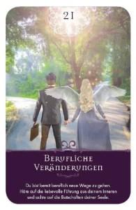 Gratis Kartenlegen Kraft der Engel Orakel Karte 21 Berufliche Veränderung