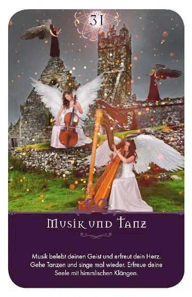 Gratis Kartenlegen Kraft der Engel Orakel Karte 31 Musik und Tanz