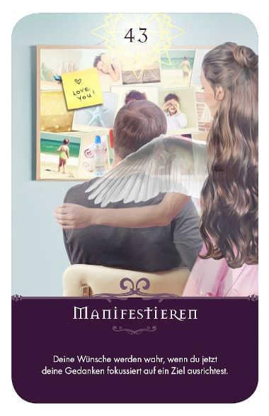 Gratis Kartenlegen Kraft der Engel Orakel Karte 43 Manifestieren