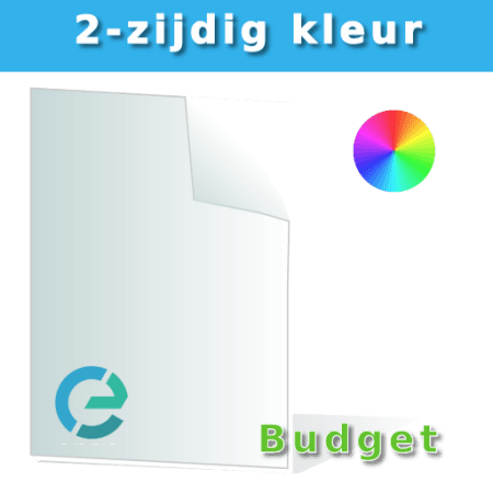 budget flyer kleur