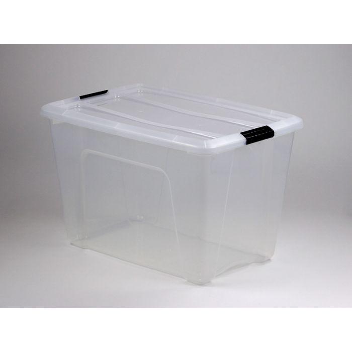 boite de rangement transparent avec couvercle 60l 58x40x37 cm
