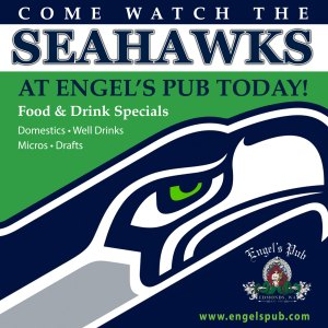 Seahawks at Engel's Pub in Edmonds