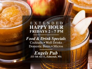 Extended Happy Hour at Engel's Pub!