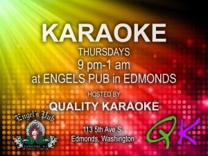 Karaoke at Engel's Pub in Edmonds
