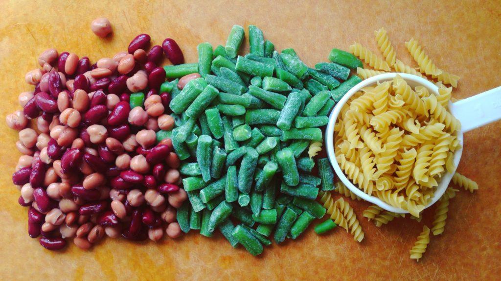Minestrone: beans greens pasta